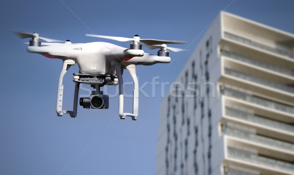 Quadrocopter, copter, drone in action Stock photo © mikdam