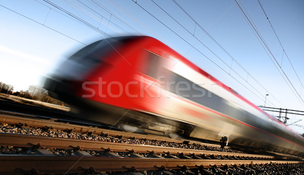 Fast train with motion blur Stock photo © mikdam