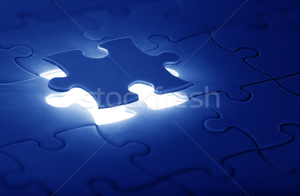 jigsaw puzzle with the missing piece Stock photo © mikdam