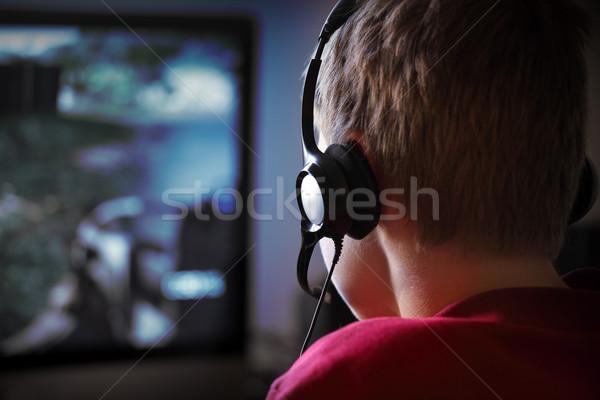 Számítógép számítógépes játékok ipar hazárdjáték játszik LAN Stock fotó © mikdam