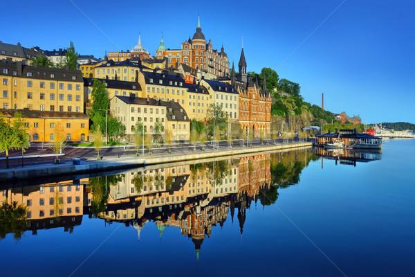 Stockholm erken yaz sabah su halat Stok fotoğraf © mikdam