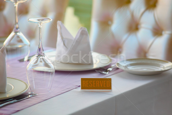 Restaurant table Voyage fourche blanche vacances Photo stock © mikdam