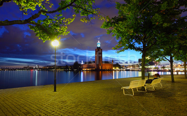 The city hall, Stockholm Stock photo © mikdam