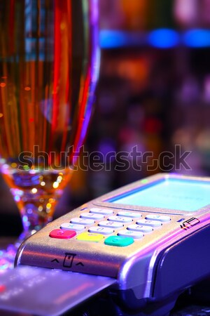 Paying Drink With Credit Card Stock photo © mikdam