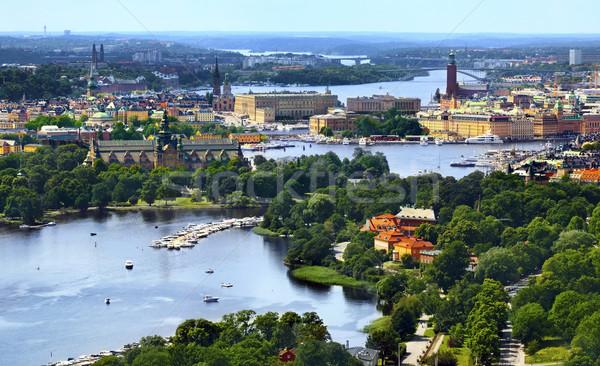 Stockholm şehir tekne Avrupa görmek açık havada Stok fotoğraf © mikdam