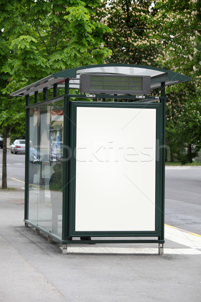 Bus stop with a blank billboard Stock photo © mikdam