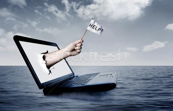 Laptop mare Foto d'archivio © mikdam