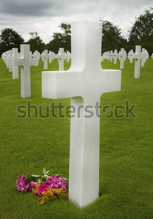 Marker of an unknown soldier Stock photo © mikdam