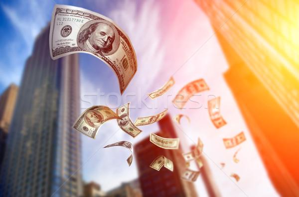 Vallen geld 100 hemel Stockfoto © mikdam