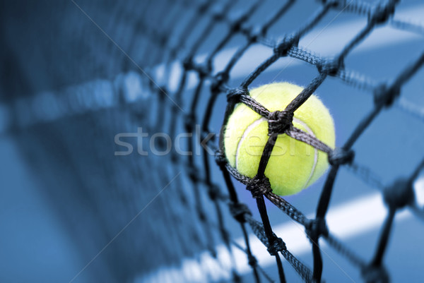 Balle de tennis court de tennis sport amusement balle noir Photo stock © mikdam