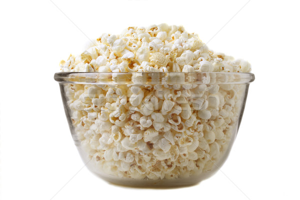 Tuzlu patlamış mısır fotoğraf gıda arka plan Stok fotoğraf © mikdam