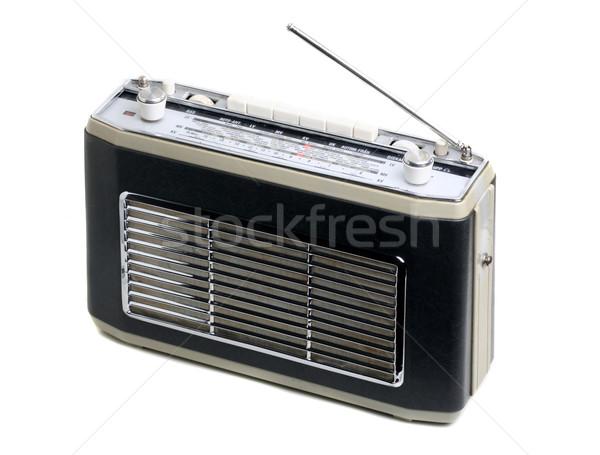 старые радио изолированный белый Сток-фото © mikdam