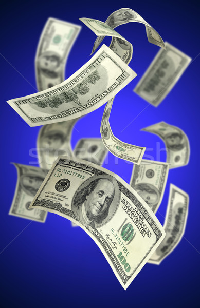 Falling Money $100 Bills Stock photo © mikdam
