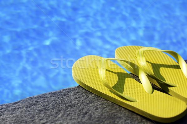 сандалии бассейна воды обуви Cool Бассейн Сток-фото © mikdam