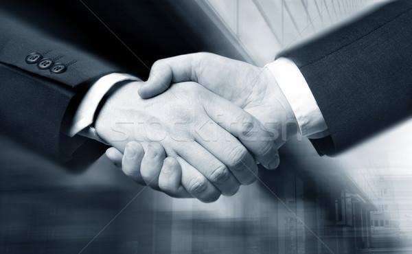 business hand shake Stock photo © mikdam