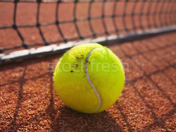 Bola de tênis quadra de tênis esportes bola Foto stock © mikdam