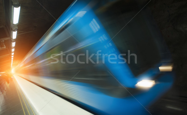 Stockholm Metro Train Station Stock photo © mikdam