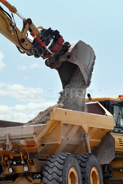 Excavation & Dump vehicle Stock photo © mikdam