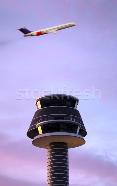 air traffic control tower Stock photo © mikdam