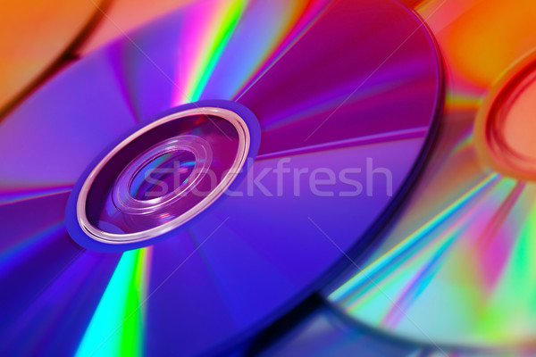 background of some colorful compact discs Stock photo © mikdam