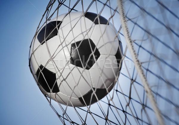 Futballabda hát gól égbolt sport labda Stock fotó © mikdam