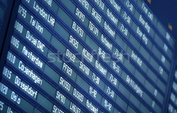 Airport Info Panel  Stock photo © mikdam
