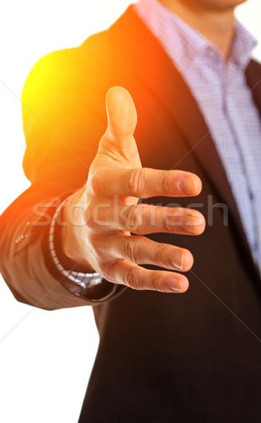 Stock photo: Businessman offering for handshake