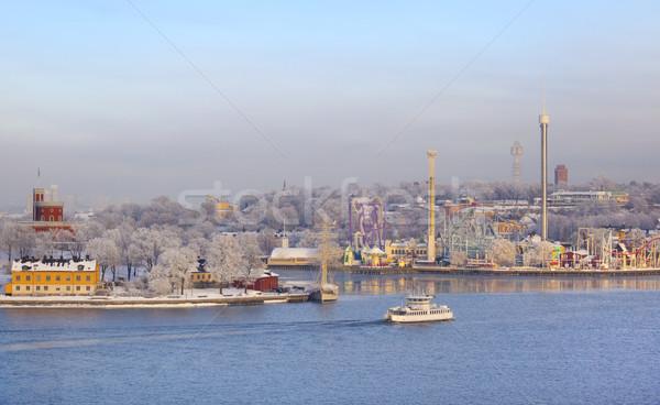 Stockholm görmek lunapark kış Avrupa Stok fotoğraf © mikdam