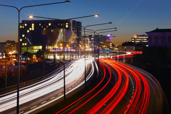 Traffic on Freeway Stock photo © mikdam