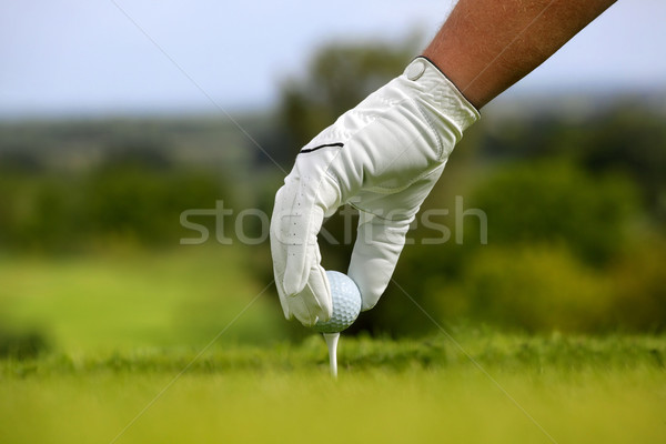 Stock photo: Close-up of a golf ball