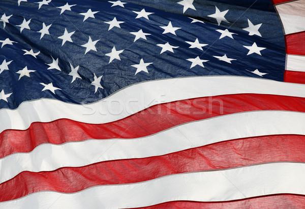 Amerikai zászló szél csillagok tapéta fehér szavazás Stock fotó © mikdam