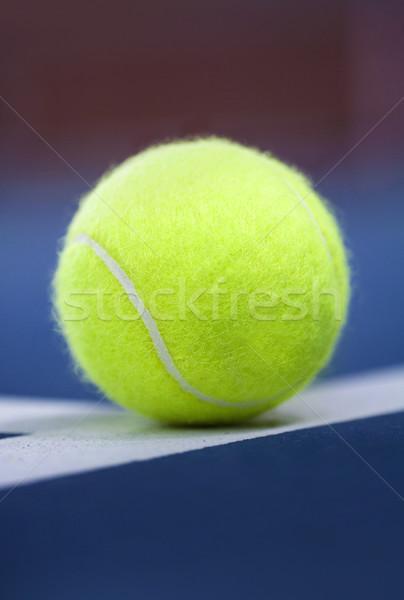 Tennisbal sport tennis bal witte close-up Stockfoto © mikdam