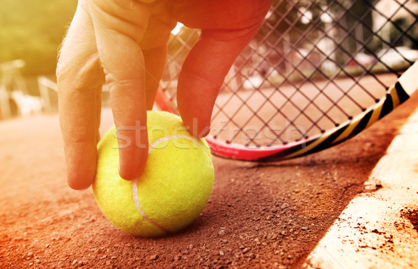 tennis player gets the ball  Stock photo © mikdam