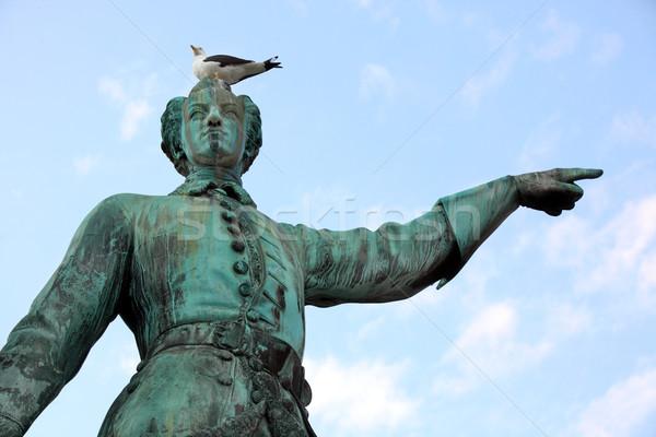Statua re Svezia Stoccolma cielo città Foto d'archivio © mikdam