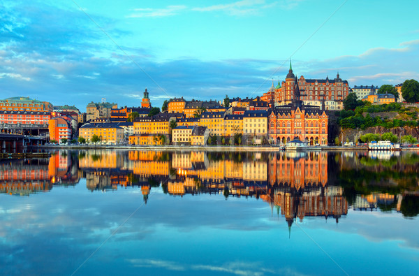 Stockholm early summer morning Stock photo © mikdam