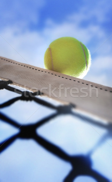 Bola de tênis borda esportes azul bola tribunal Foto stock © mikdam