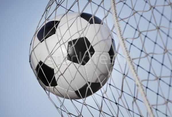 サッカーボール 戻る 目標 空 スポーツ ボール ストックフォト © mikdam