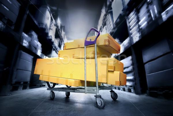 склад торговых окна пакет хранения Сток-фото © mikdam
