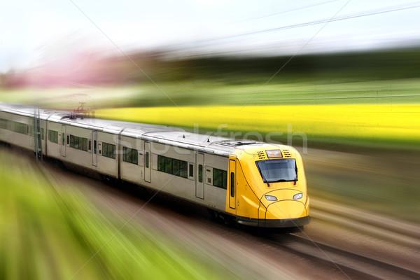 Tren movimiento Foto stock © mikdam