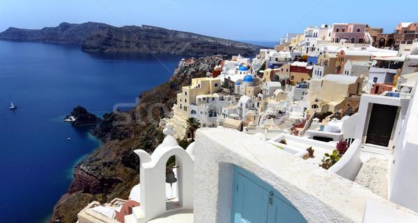Santorini azul isla blanco cultura aire libre Foto stock © mikdam