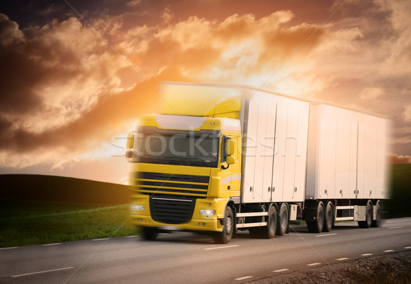 Truck on the road  Stock photo © mikdam