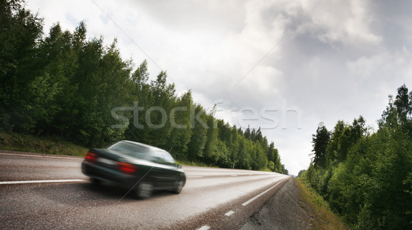 Car on a country road Stock photo © mikdam
