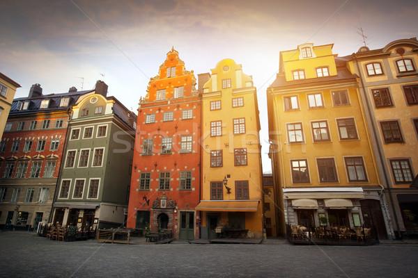 Sztokholm miasta wcześnie rano piękna podróży miejskich Zdjęcia stock © mikdam