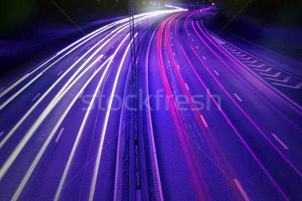 cars at night with motion blur. Stock photo © mikdam