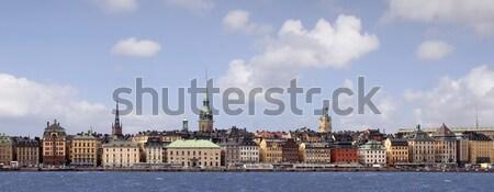 Sztokholm miasta piękna podróży miejskich kolor Zdjęcia stock © mikdam
