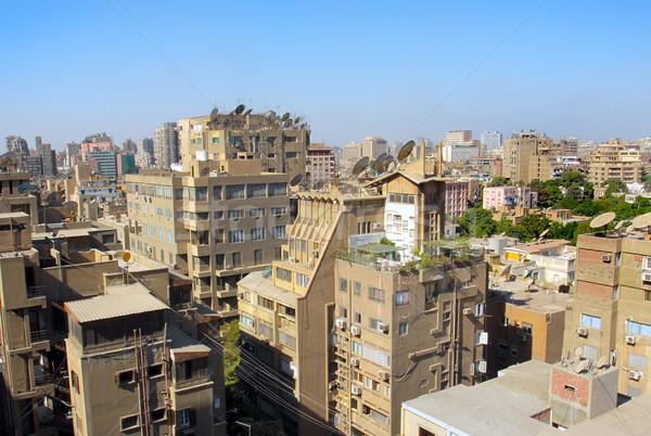 Cairo huis home stedelijke architectuur Stockfoto © mikdam