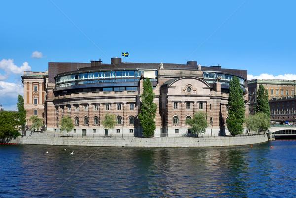 The parliament building (Riksdagen) , Stockholm, Sweden  Stock photo © mikdam