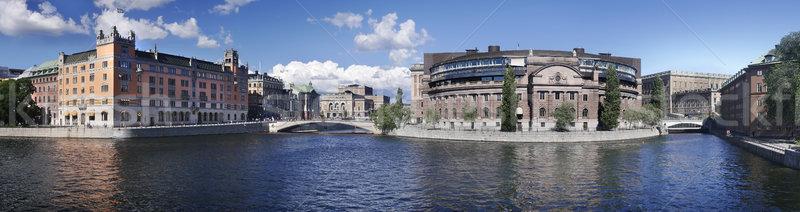 Parlement gebouw Stockholm Zweden Stockfoto © mikdam