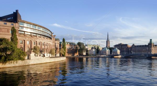 Sztokholm miasta wygaśnięcia wody Europie Zdjęcia stock © mikdam