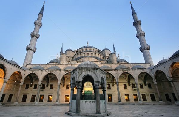 Stock fotó: Kék · mecset · Isztambul · építészet · vallás · városkép
